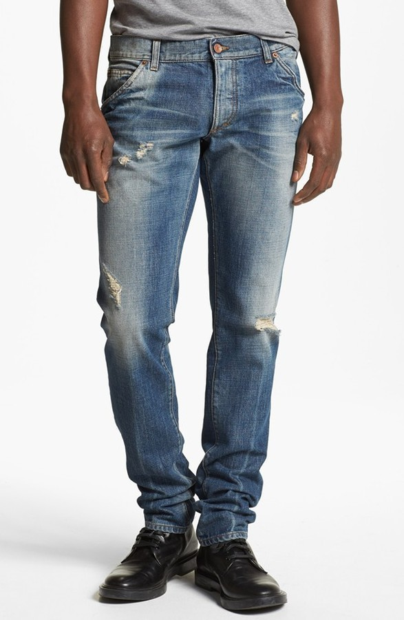 ripped jeans - Blue Dolce & Gabbana Sale Best Place Release Dates Cheap Price Cheap The Cheapest Cheap Best Place Sale Sale Online 5sXZrXve