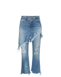 R13 Double Classic Shredded Jeans Unavailable