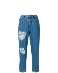 Heart patch straight jeans medium 7704370