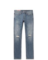 Acne Studios Max Slim Fit Distressed Denim Jeans