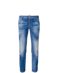 Dsquared2 Medium Waist Cropped Twiggy Jeans