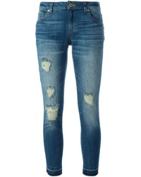 MICHAEL Michael Kors Michl Michl Kors Distressed Cropped Jeans