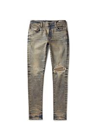 Amiri Skinny Fit Distressed Stretch Denim Jeans