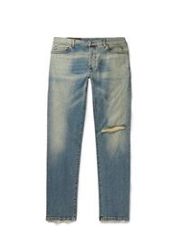 Balmain Tapered Distressed Denim Jeans
