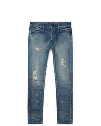 John Elliott The Cast 2 Slim Fit Distressed Denim Jeans