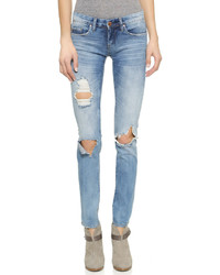 Denim distressed skinny jeans medium 669349