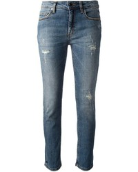 Victoria Beckham Denim Ripped Slim Fit Jeans
