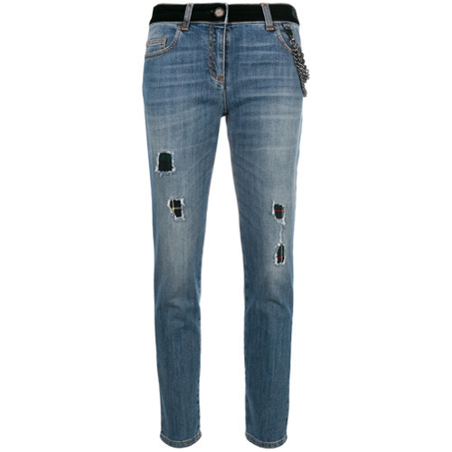 Boutique Moschino Distressed Cropped Jeans