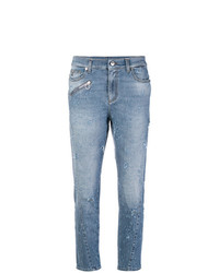 Versace Jeans Distressed Fitted Jeans