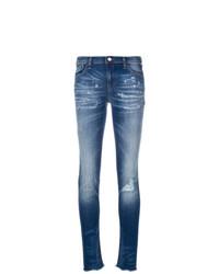 Emporio Armani Distressed Skinny Jeans