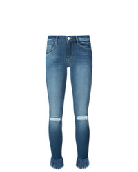 Frame Denim Frayed Ankle Jeans