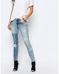 Blank NYC Patchwork Distressed Skinny Jeans
