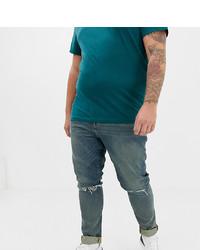ASOS DESIGN Plus 125oz Super Skinny Jeans In Tinted Blue