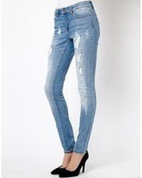 Women's Blue Ripped Skinny Jeans by Only | Women's Fashion
