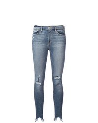 Frame Denim Ripped Skinny Jeans