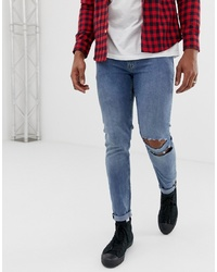 Cheap Monday Super Skinny Him Spray Jeans In Blue