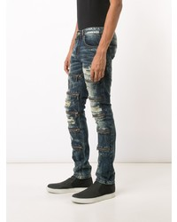 God's Masterful Children Zipped Ripped Skinny Jeans