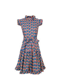La Doublej Flared Chicken Print Dress