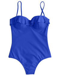 J.Crew Ruffle Underwire One Piece Swimsuit