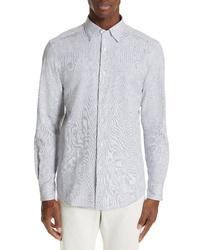 Blue Seersucker Long Sleeve Shirt