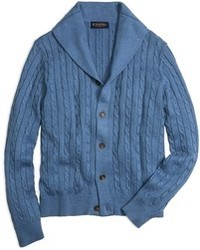Blue Shawl Cardigan