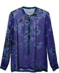 Raquel Allegra Dyed Henley Top