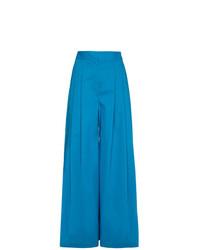 Vika Gazinskaya Silk Pleat Front Trousers