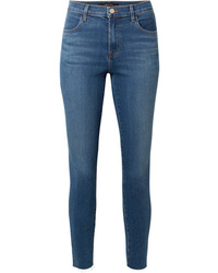 J Brand Alana Cropped Frayed High Rise Skinny Jeans