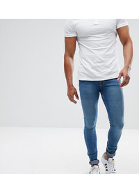 ASOS DESIGN Asos Tall Extreme Super Skinny Jeans In Mid Blue