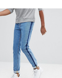 ASOS DESIGN Asos Tall Skinny Jeans In Mid Wash Blue With