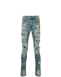 Amiri Distressed And Stud Detail Skinny Jeans