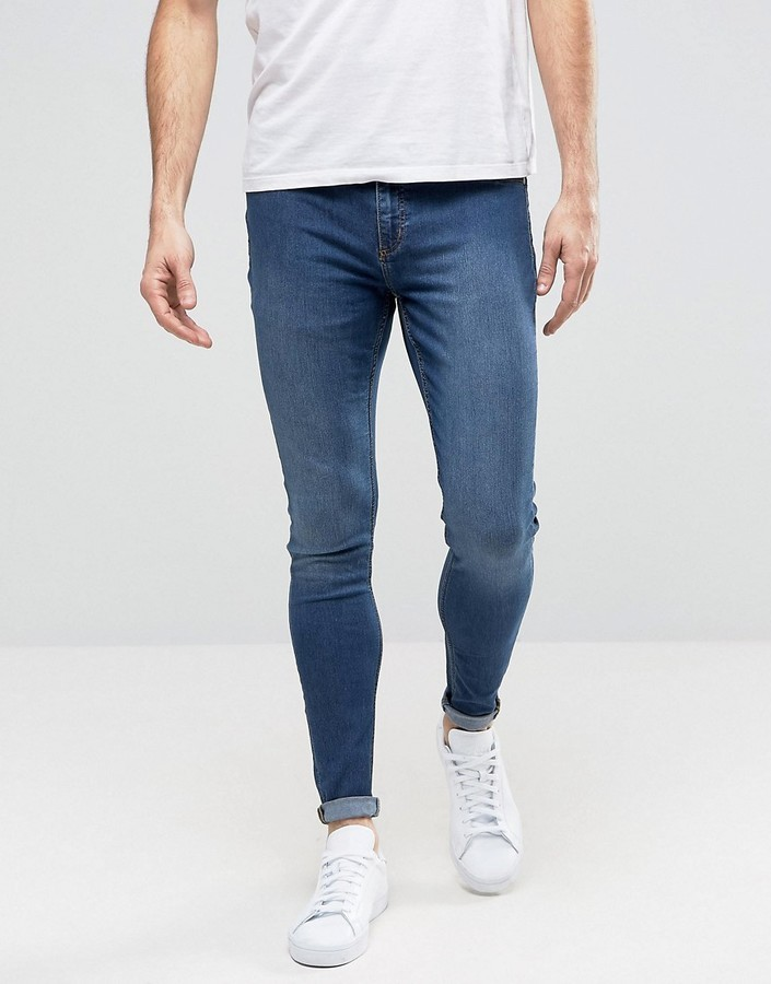 a3e95525b ... Cheap Monday Jeans Mid Spray Extreme Superstretch Skinny Fit Dim Blue  ...