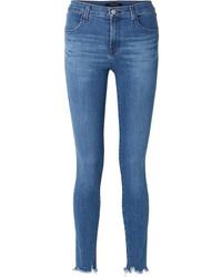 J Brand Maria Frayed High Rise Skinny Jeans