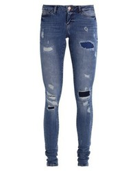 Noisy May Nmeve Jeans Skinny Fit Medium Blue Denim