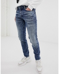 Chasin' Ross Lorne Slim Tapered Jeans In Mid Wash