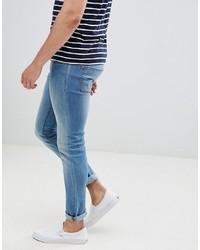 Produkt Skinny Fit Jeans In Washed Blue Denim