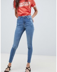 Miss Selfridge Skinny Jeans In Mid Wash