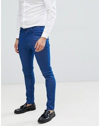 ASOS DESIGN Smart Skinny Jeans In Raw Blue