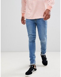ASOS DESIGN Super Skinny Jeans In Light Wash