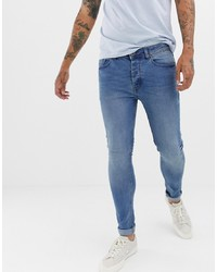 Threadbare Super Skinny Jeans In Mid Wash