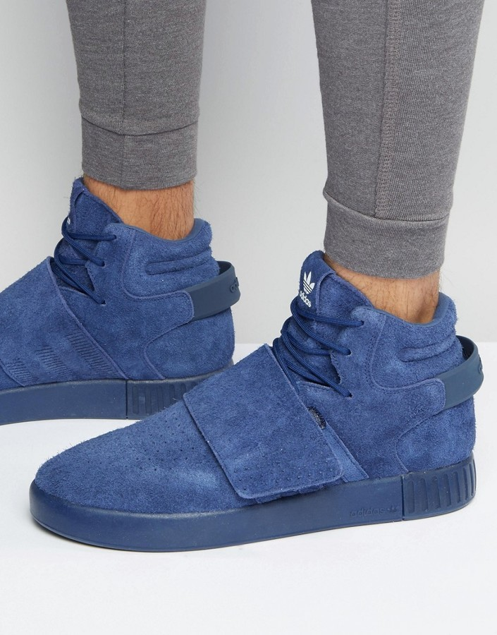 9cf8cd2ee643b8 ... adidas Originals Tubular Invader Strap Sneakers In Blue Bb5036 ...