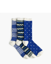 J.Crew Mixed Holiday Trouser Sock 3 Pack
