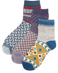 Free People Paradise Cove 3 Pack Ankle Socks