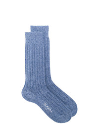 N.Peal Plain Short Socks