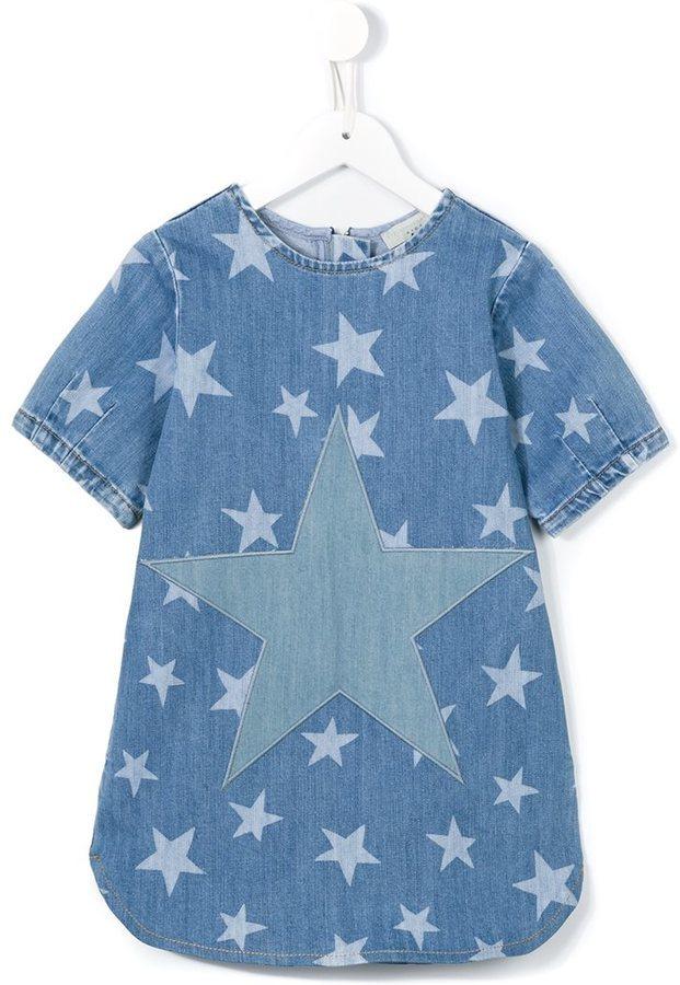 Stella McCartney Kids Bess Star Print Denim Dress