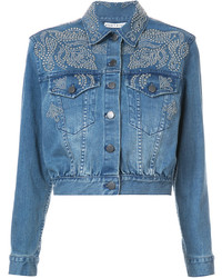 Alice + Olivia Aliceolivia Studded Detail Denim Jacket