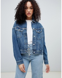 Wrangler Vintage Style Denim Jacket With Studding
