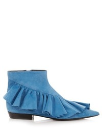 Ruffled suede ankle boots medium 720129