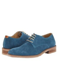 Blue Suede Derby Shoes