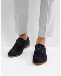 Derby shoes in navy suede with perforated detail medium 4418949